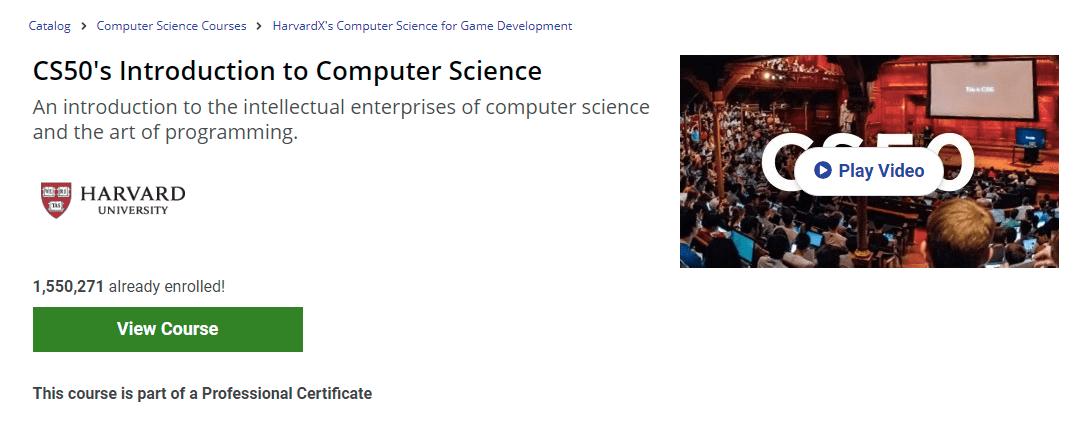 แนะนำคอร์สเรียนออนไลน์ CS50's Introduction to Computer Science
